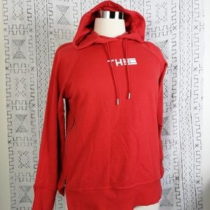 Red Tommy Hilfiger Sport Pullover Hoodie